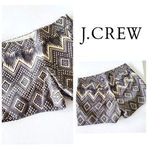 J. CREW 100% Cotton Aztec Boho Shorts